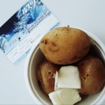 free steamed potatoes after riding!