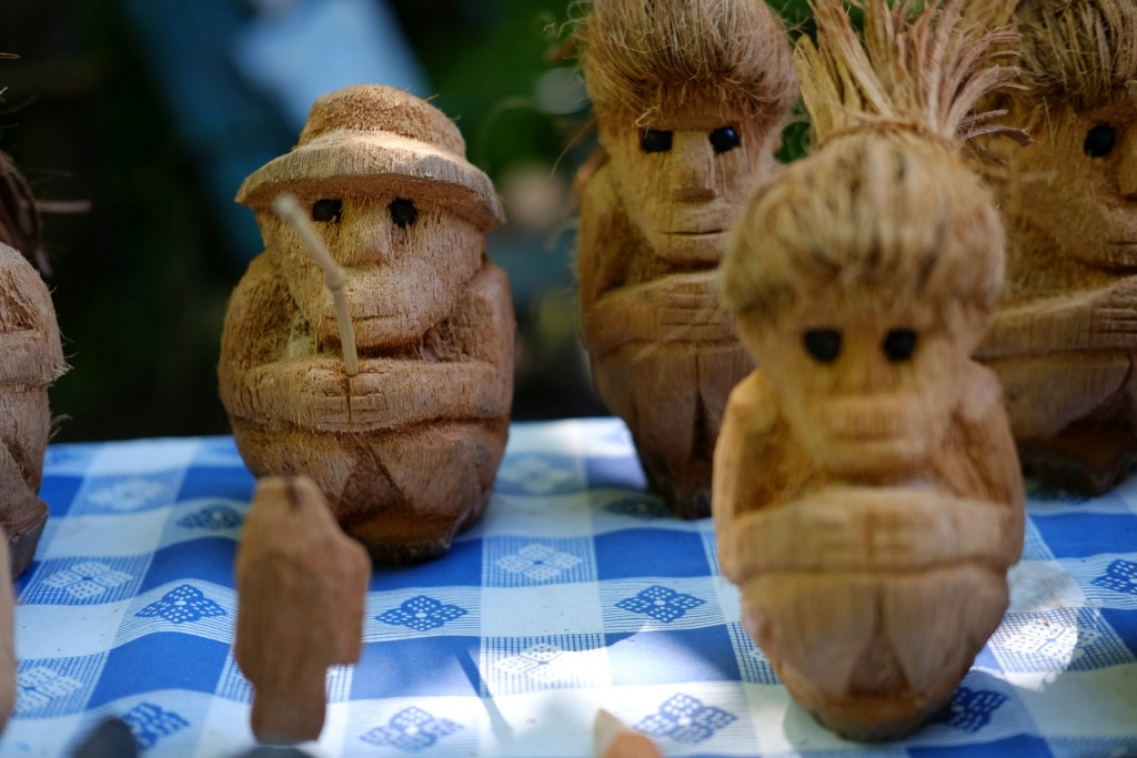 coconut people. more interesting than our first meal on the island
